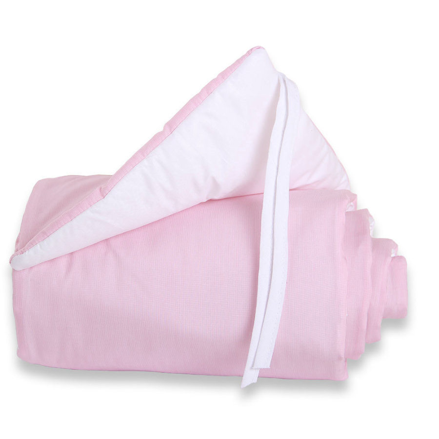 babybay® Nestchen Cotton Original rose/weiß 149x24 cm