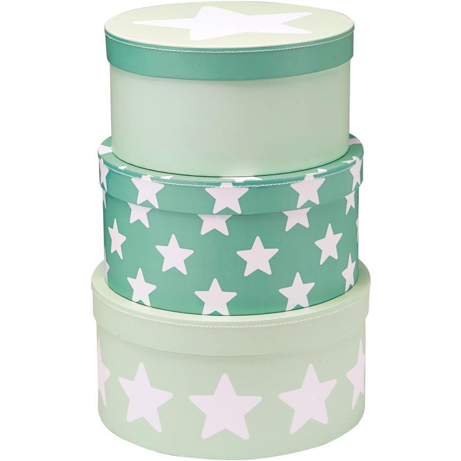 Kids Concept® Pappboxen rund mint