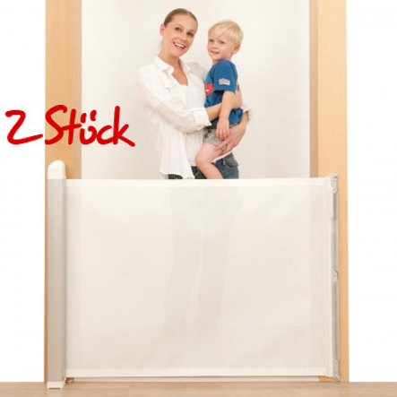 LASCAL Kiddy Guard avant Barrière de porte blanc Lot de 2