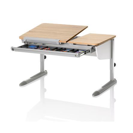 Kinderschreibtisch kettler  KETTLER Schreibtisch LOGO DUO II, Eiche Sonoma, weiss/silber ...