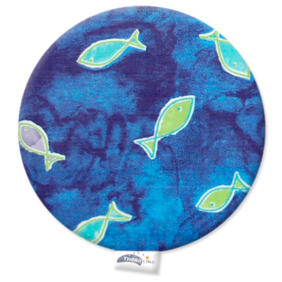 Theraline Cuscino con noccioli di ciliegia 23 x 26 cm Design: rotondo con fantasia pesci