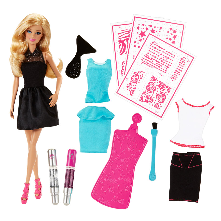 MATTEL Barbie Beauty & Hairplay - Brokatowa Moda