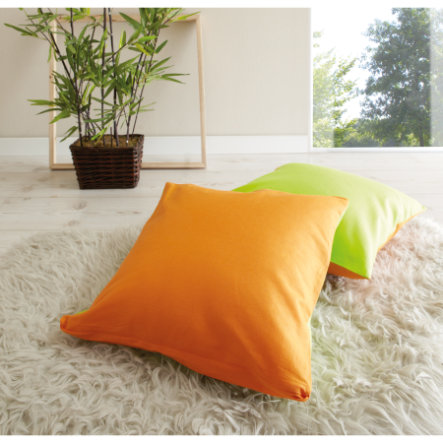 TICAA Lot de coussins - orange/vert