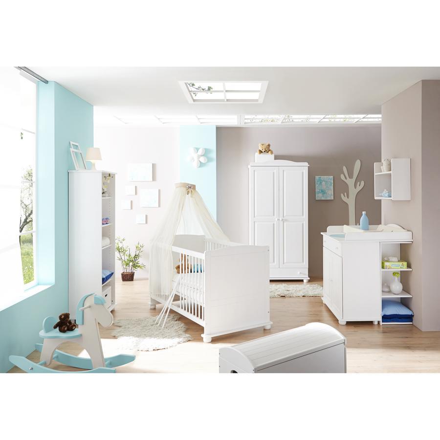 TiCAA Babyzimmer Adam 5-teilig Kiefer massiv weiß