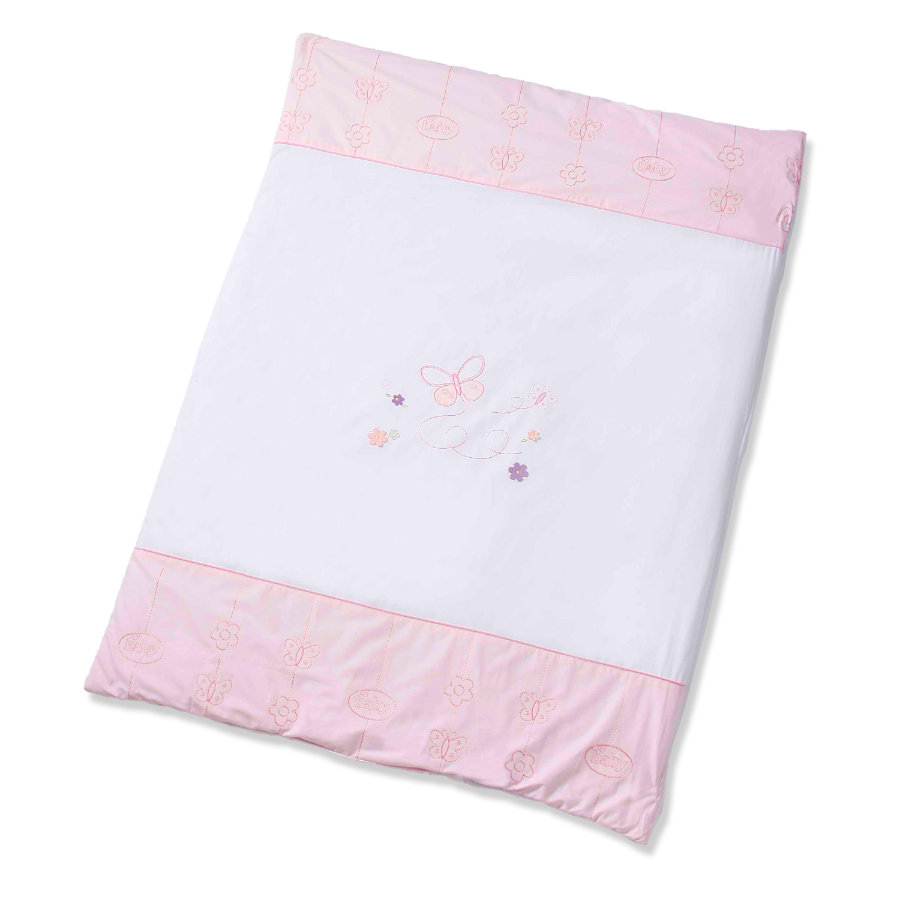 Easy Baby Couverture de jeu Butterfly Rose 100x135cm (460-85)