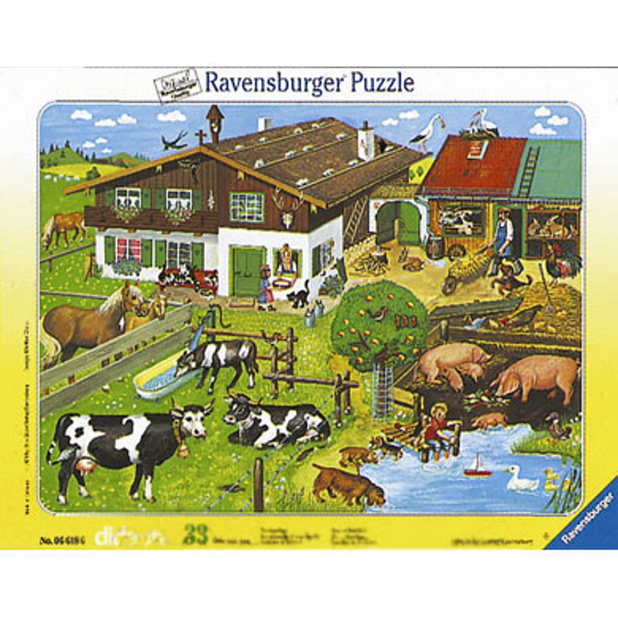 RAVENSBURGER 33 Piece Animal Families Puzzle