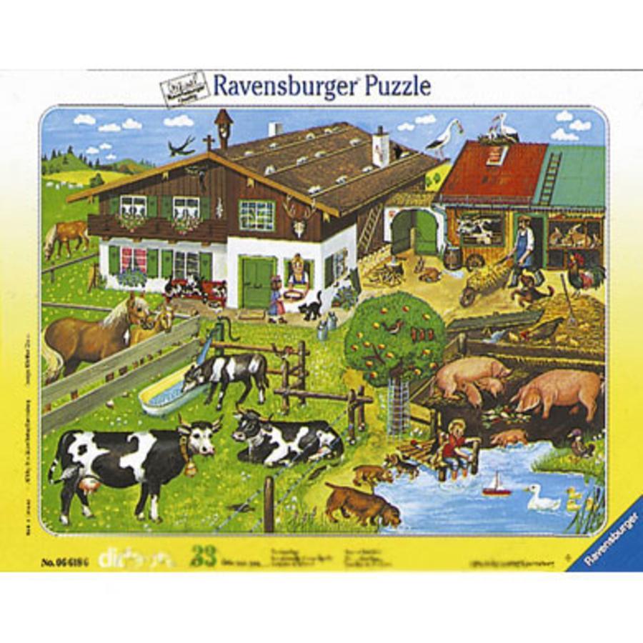 RAVENSBURGER Puzzle Famiglie di animali 33 pezzi