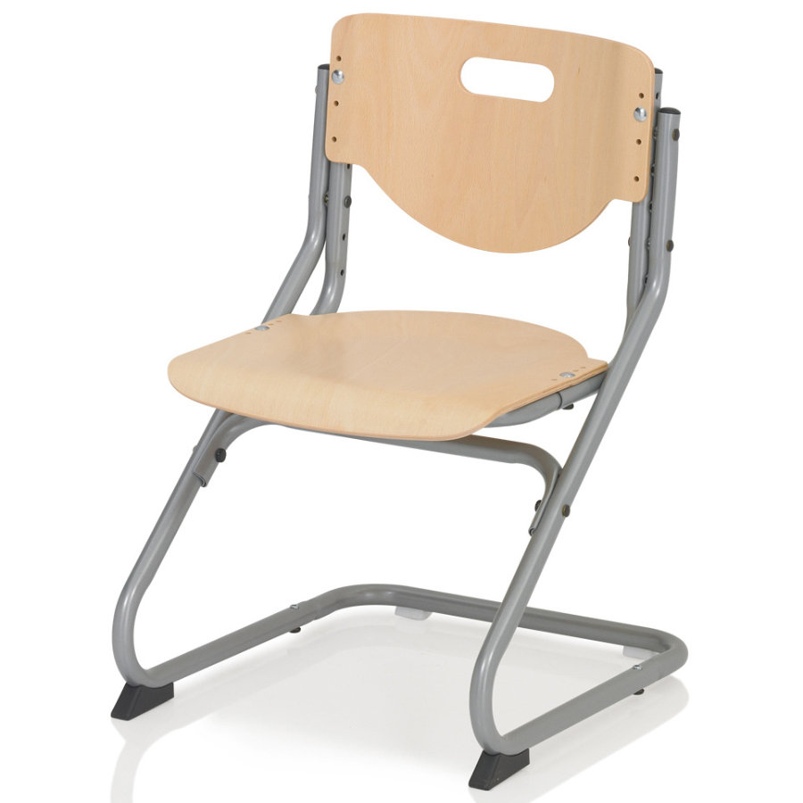 KETTLER CHAIR PLUS, beech/silver 6725-17