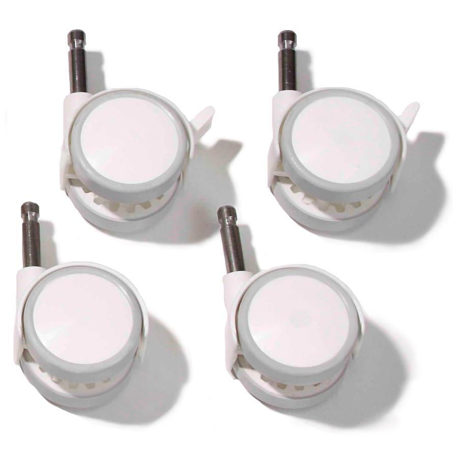 Easy Baby Set de roulettes, soft blanc