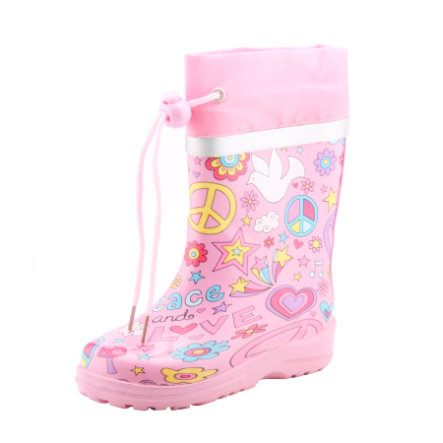 BECK Girls Stivali in gomma PEACE pink