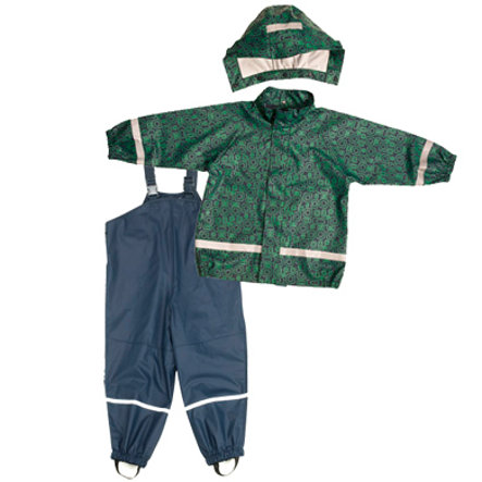 "PLAYSHOES TUTA PARAPIOGGIA Boys ""ORNAMENT"" blu-verde"
