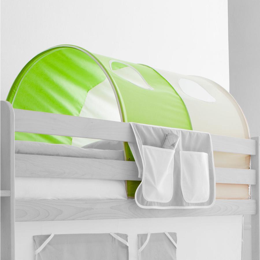TICAA tunel na patrové a dvoulůžkové patrové postele zelený/béžový