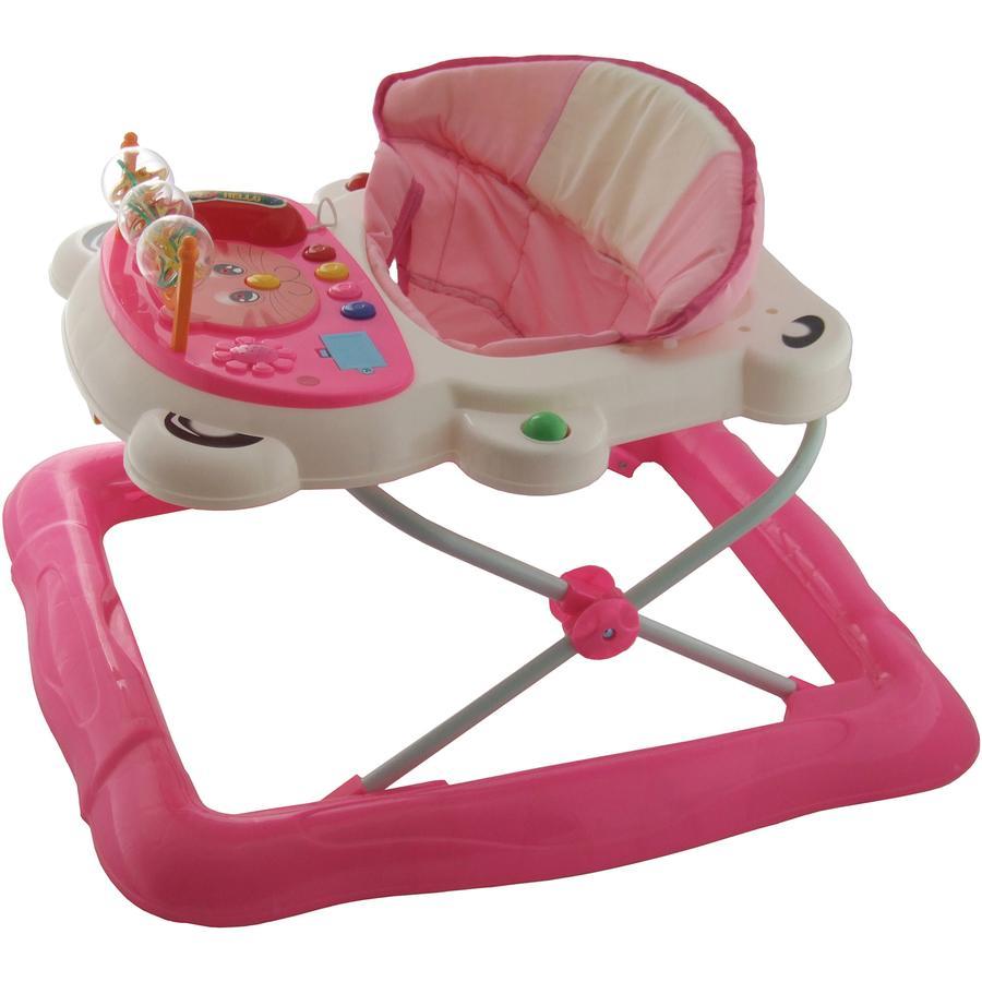 Bieco Loopwagen en Activitystoel, roze