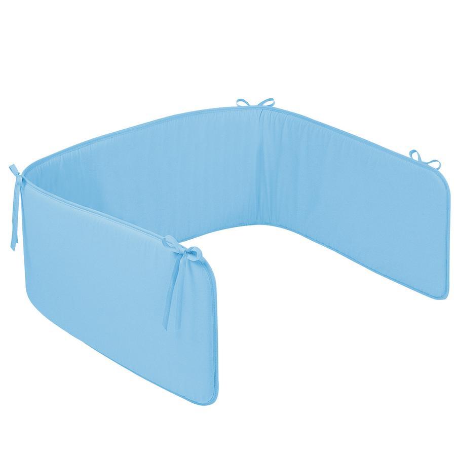 ZÖLLNER Paracolpi per culla a tinta unica azzurro (4031-7)