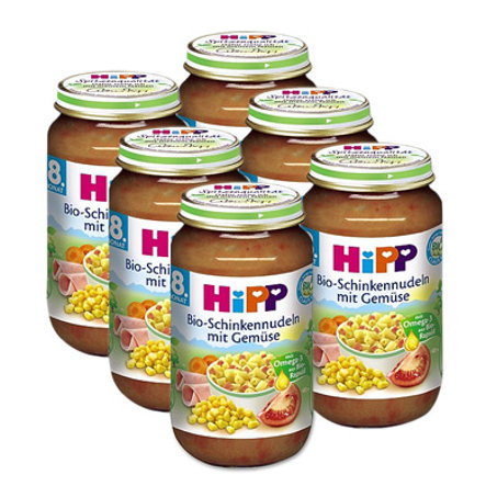 HIPP Bio Ham Noodles with Vegetables, 6 x 220g