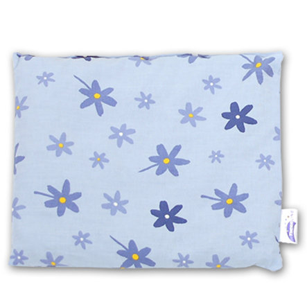 THERALINE Cherry Stone Pillow 19x19cm Flowers Blue