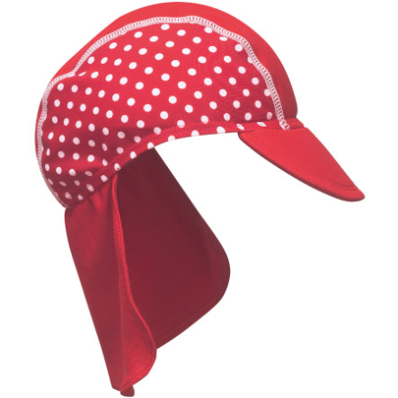 PLAYSHOES Casquette protection UV rouge à pois