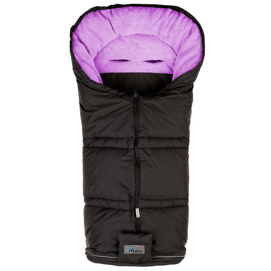 ALTA BÉBE Winter Footmuff Climate Guard (AL2278sx13) SympaTex, black/light pink - Black Emy 2013/2014 collection