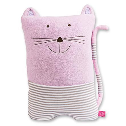 LÄSSIG 4Kids Big Travelino Schmusekissen Pipa Katze rosa