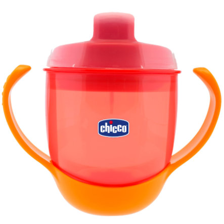 CHICCO Training Bottle with Spout 12+ months red