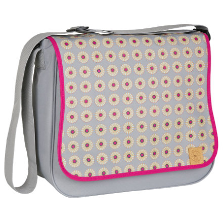 LÄSSIG Luiertas Basic Messenger Bag Daisy Mid Grey