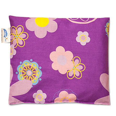 THERALINE Cherry Stone Pillow 23x26cm Design Retroblume pflaume