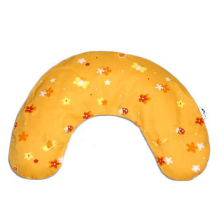 THERALINE Medium Neck Pillow with Micro Beads Flower Field Orange
