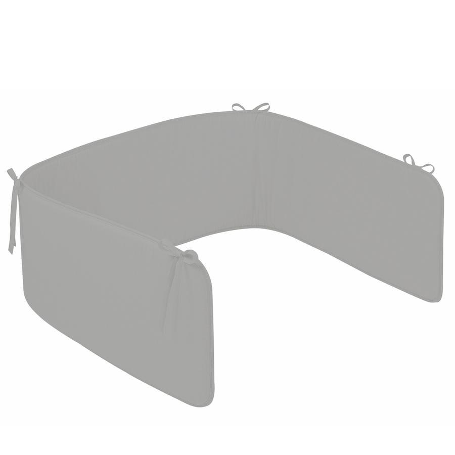 ZÖLLNER Paracolpi per culla a tinta unica grigio (4052-7)