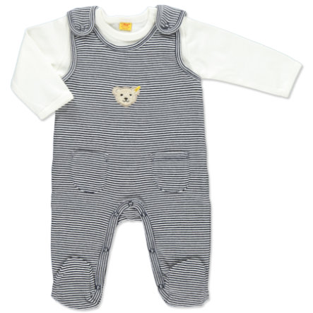 STEIFF Baby Romper Set stripes navy