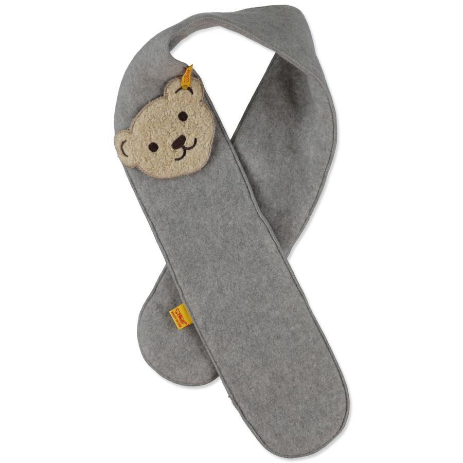 STEIFF Mini fleece-tørklæde, lysgrå