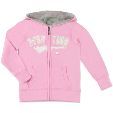 anna & tom Girls Sweat-Jacke rosa