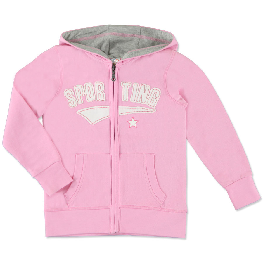 anna & tom Girls Sweat Jacket pink
