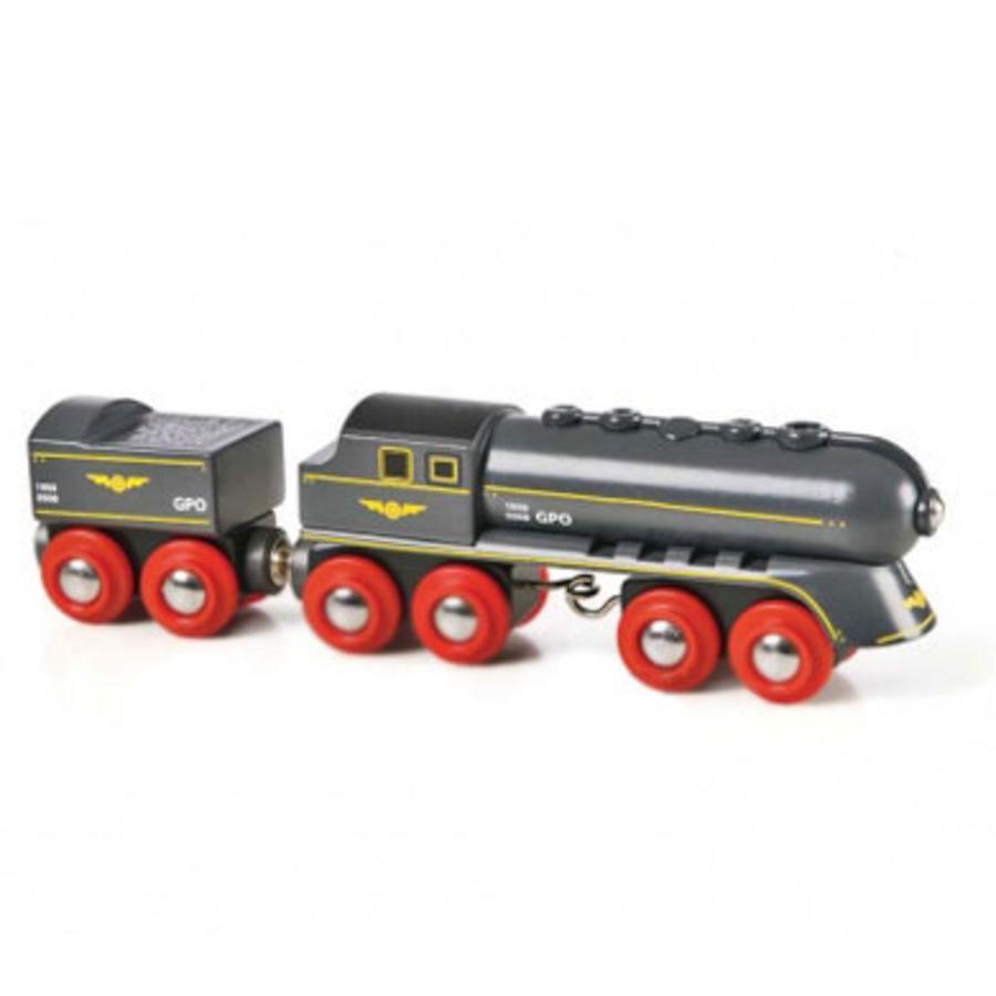 BRIO Parní lokomotiva černý kulový blesk s tendrem na uhlí