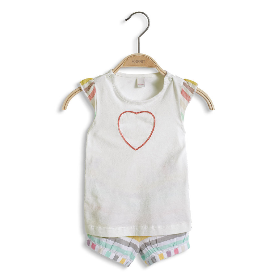 ESPRIT Girls Baby 2er-Set T-Shirt + Shorts multicolour