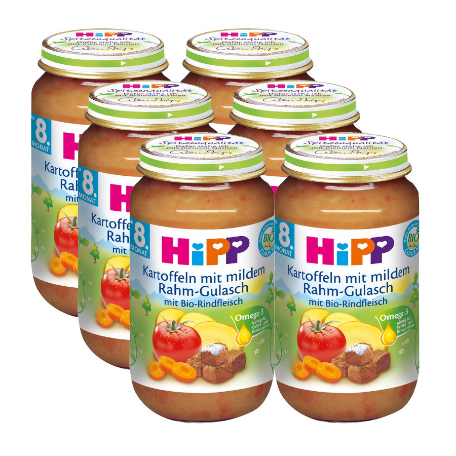 HiPP Kartoffeln mit mildem Rahm-Gulasch 6 x 220g