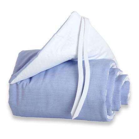 TOBI BABYBAY Spjälsängsskydd Maxi blå/vit