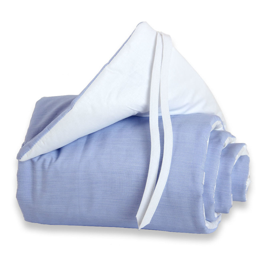 babybay Tour de lit Maxi, bleu/blanc, 25 x 168 cm