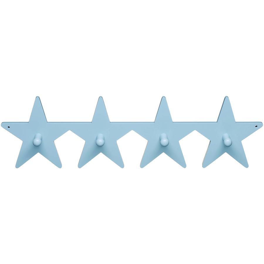 KIDS CONCEPT Hängare krokbräda Star ljusblå