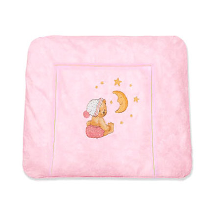 ZÖLLNER Aankleedkussen Softy Knuffelbeer roze 2581-2