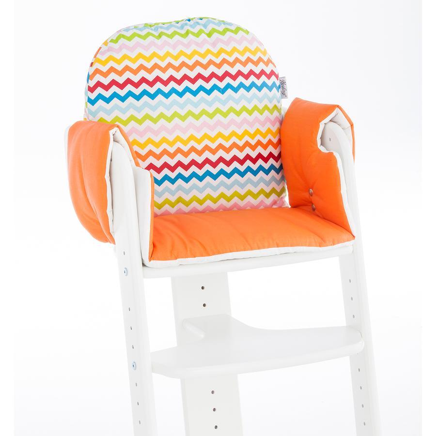 HERLAG Seat Pad for High Chair Tipp Topp IV Orange Stripes
