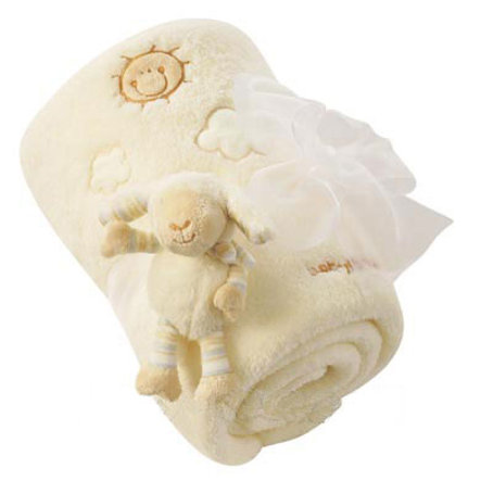 BABY SUN Couverture câline Baby Love Mouton Paul