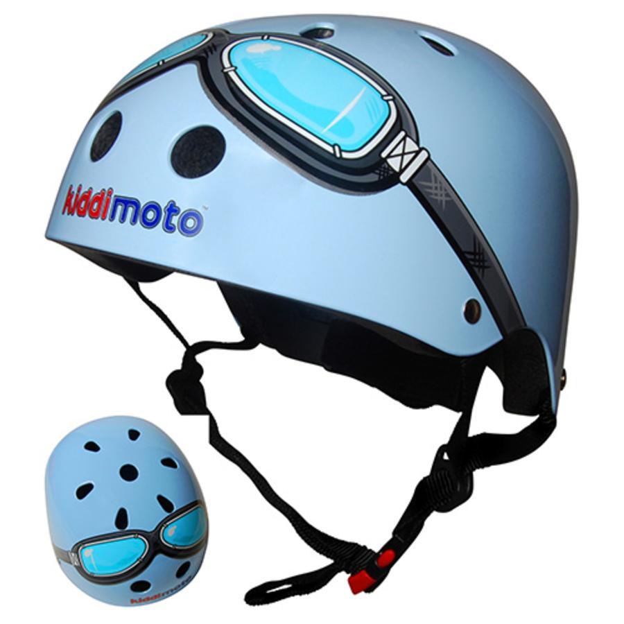 kiddimoto® Helm Design Sport, Piloot blauw - Maat S, 48-53cm