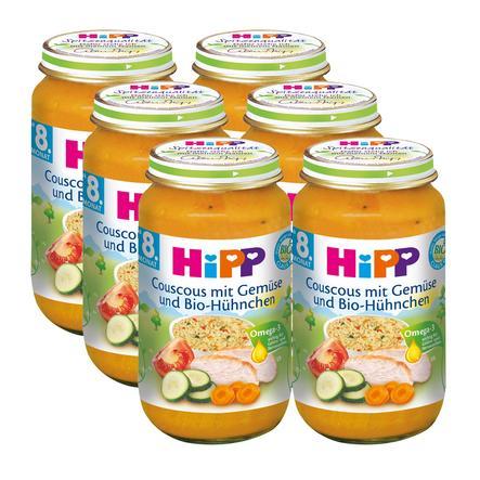 HiPP Bio Couscous mit Gemüse und Bio-Hühnchen 6 x 220 g