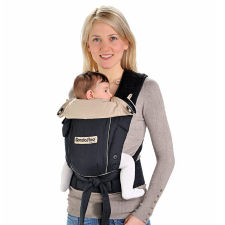 HOPPEDIZ Babytrage Bondolino Leichte Qualität schwarz-sand