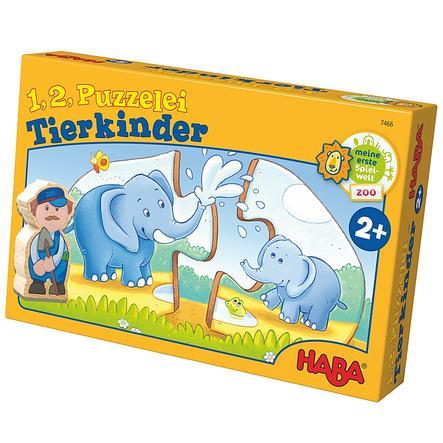 HABA 1, 2, puzzle-moi - Les bébés animaux 7466