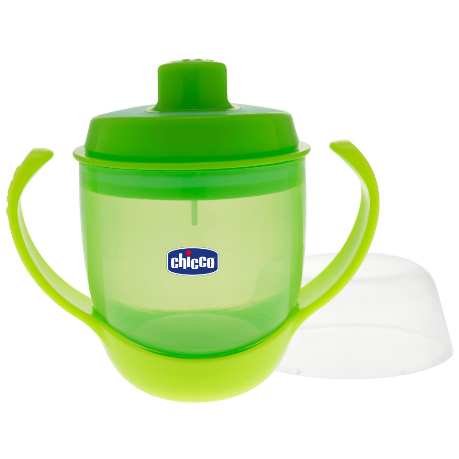 CHICCO Training Bottle with Spout 12+ months green