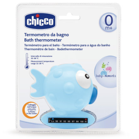 chicco Badethermometer blau Fisch