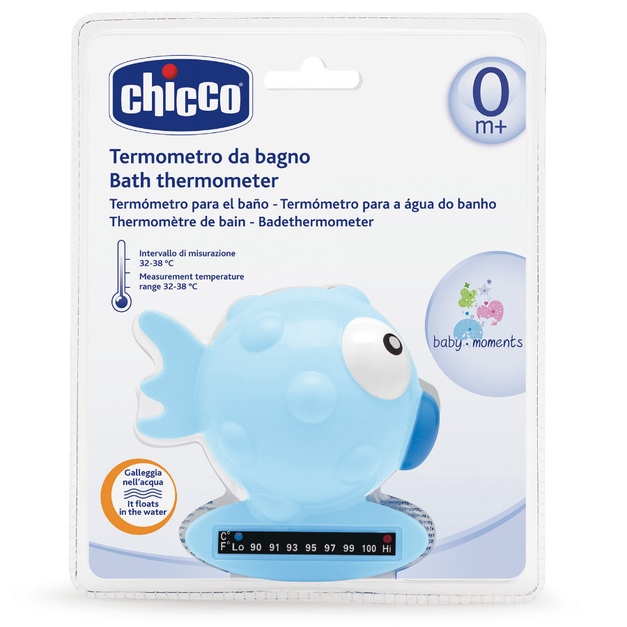 CHICCO Teploměr do vody - ryba, modrý