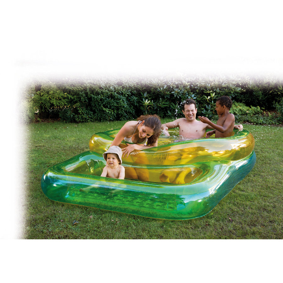 HAPPY PEOPLE Piscine pour enfants et parents, 240 x 160 x 50 cm