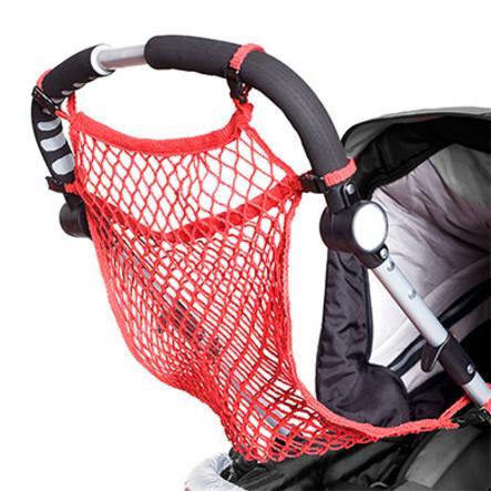 HARMATEX Kinderwagen Universal-Einkaufsnetz mit Schnellverschluss rot (04)